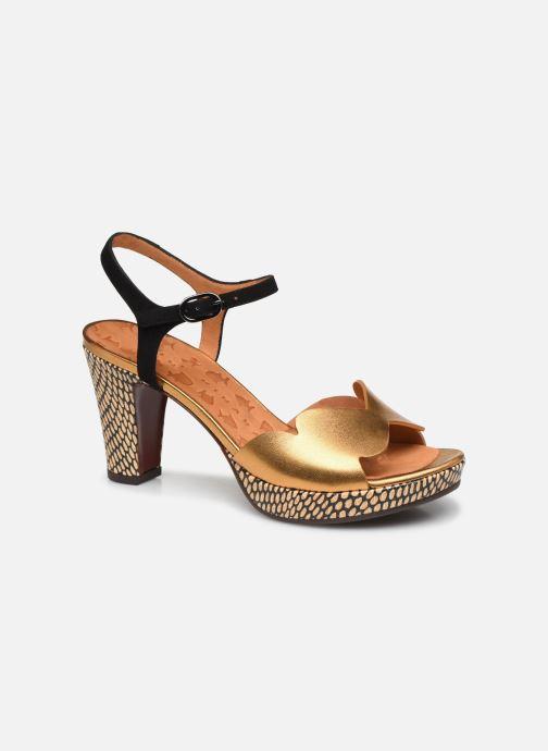 Sandales et nu-pieds Chie Mihara EDELIRA Or et bronze vue détail/paire