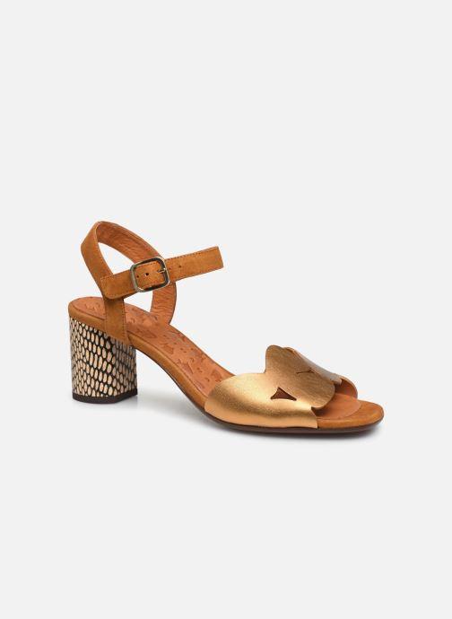 Sandalias Chie Mihara LORAN Oro y bronce vista de detalle / par