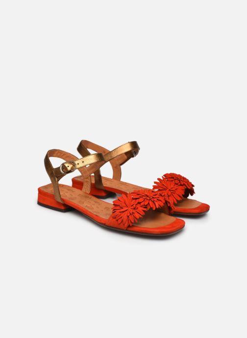 Sandales et nu-pieds Chie Mihara TALICO Orange vue 3/4