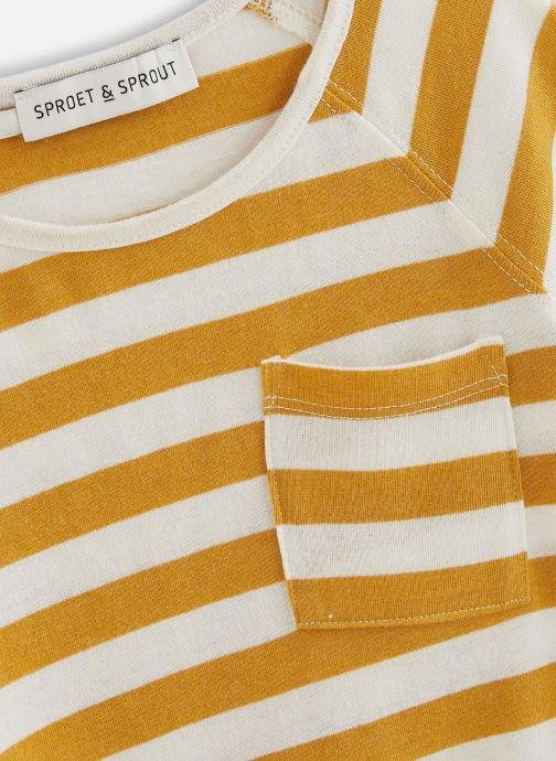 Vêtements Sproet & Sprout T-shirt raglan Stripe Jaune vue portées chaussures