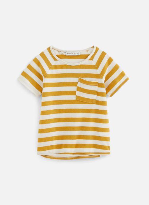 Vêtements Sproet & Sprout T-shirt raglan Stripe Jaune vue détail/paire