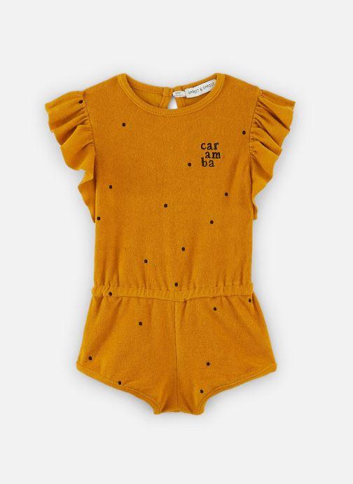 Vêtements Sproet & Sprout Combi-short Dots Caramba Jaune vue détail/paire