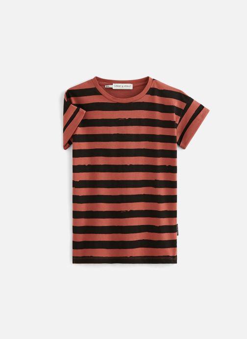 Vêtements Sproet & Sprout T-shirt dress Painted Stripe Marron vue détail/paire