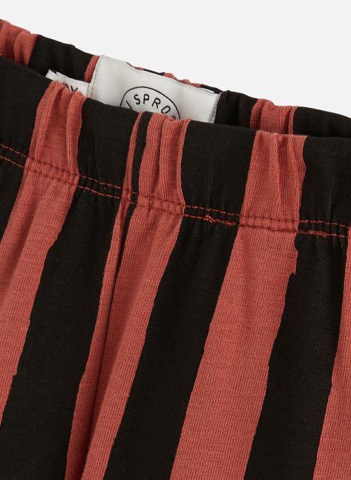 Vêtements Sproet & Sprout Legging Painted Stripe Marron vue portées chaussures