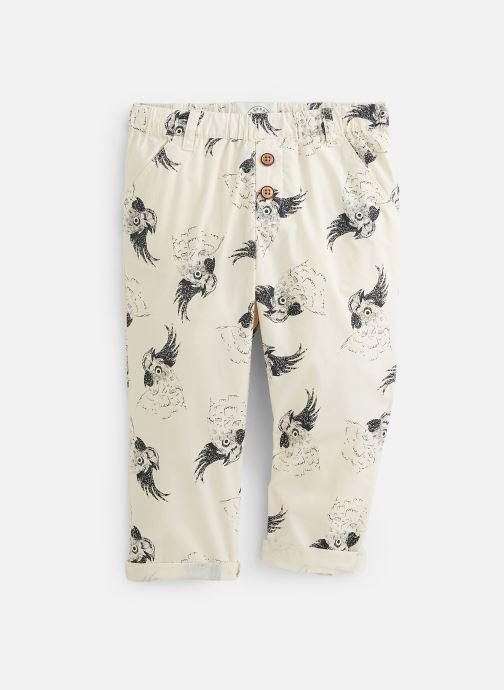 Vêtements Sproet & Sprout Pantalon print Cockatoo Blanc vue détail/paire