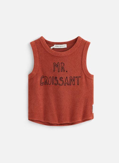 Vêtements Sproet & Sprout Débardeur terry Mr. Croissant Marron vue détail/paire