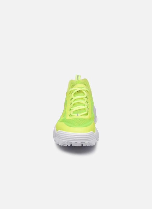 Sneaker FILA Disruptor Run Wmn gelb schuhe getragen