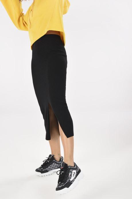 Sneaker FILA Disruptor Animal Wmn schwarz ansicht von unten / tasche getragen