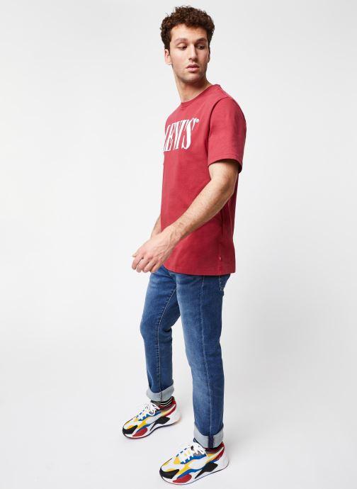 Vêtements Levi's 511™ SLIM FIT Bleu vue bas / vue portée sac