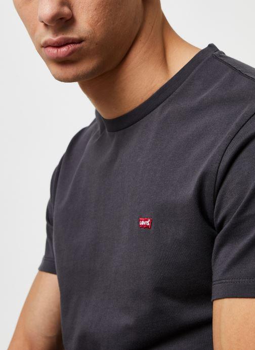 Vêtements Levi's THE ORIGINAL TEE Noir vue face