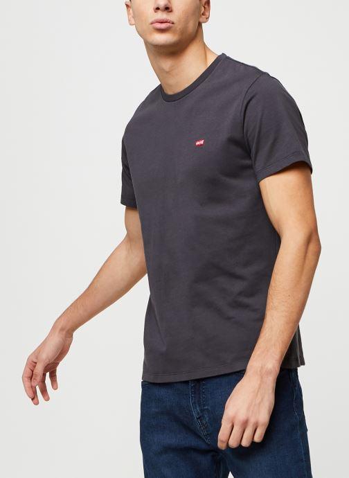 Vêtements Levi's THE ORIGINAL TEE Noir vue droite