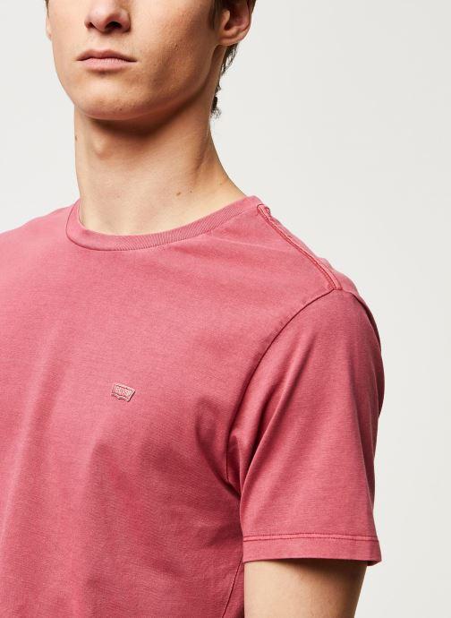 Vêtements Levi's THE ORIGINAL TEE Rouge vue face