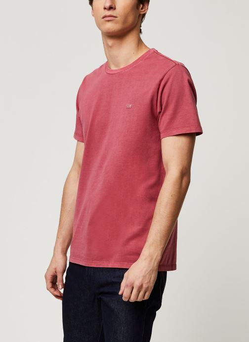 Vêtements Levi's THE ORIGINAL TEE Rouge vue détail/paire