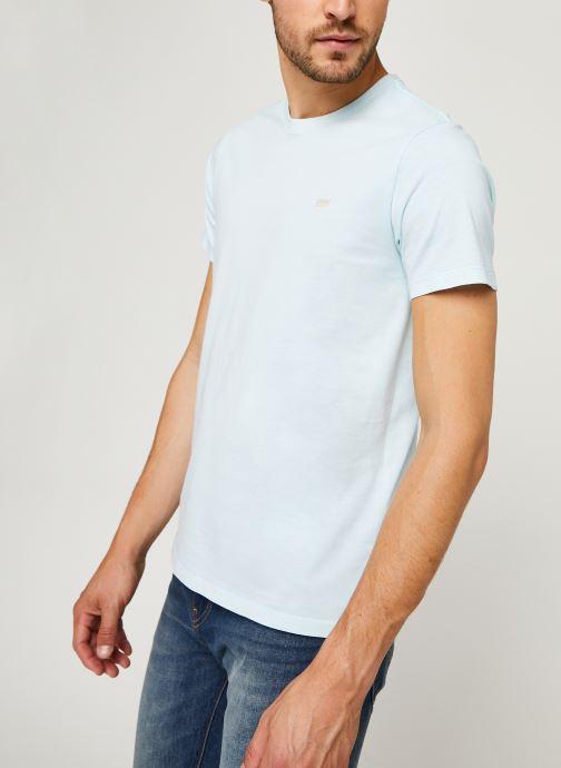 Vêtements Levi's THE ORIGINAL TEE Bleu vue droite