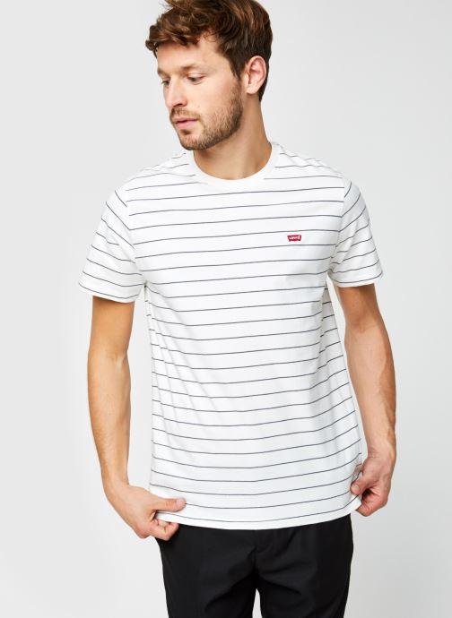 Vêtements Levi's THE ORIGINAL TEE Blanc vue détail/paire