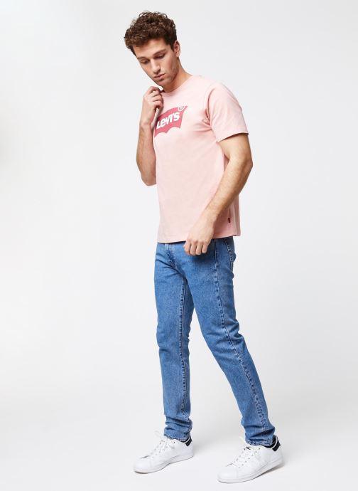 Vêtements Levi's HOUSEMARK GRAPHIC TEE Rose vue bas / vue portée sac