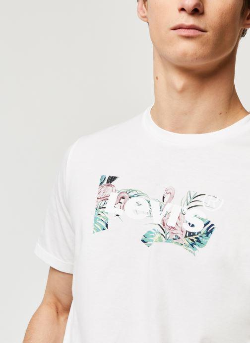 Vêtements Levi's HOUSEMARK GRAPHIC TEE Blanc vue face