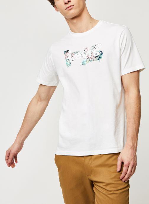 Vêtements Levi's HOUSEMARK GRAPHIC TEE Blanc vue droite