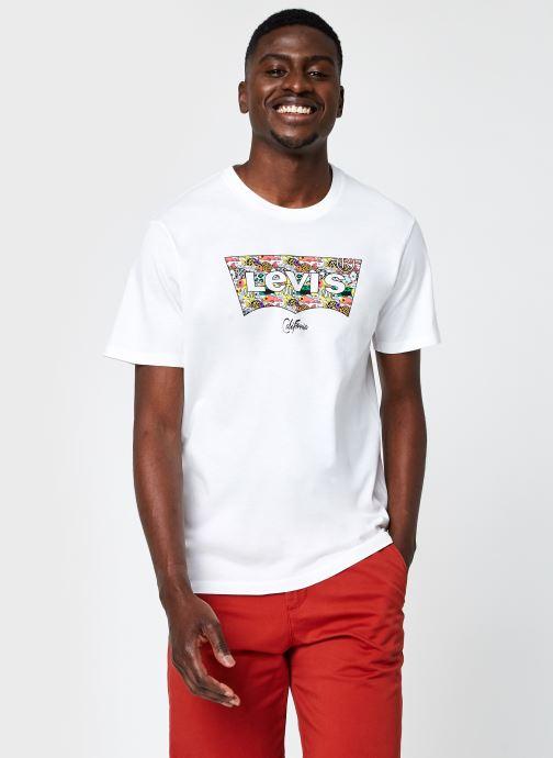 Vêtements Levi's HOUSEMARK GRAPHIC TEE Blanc vue détail/paire