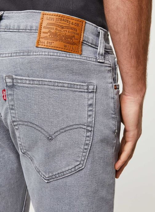 Vêtements Levi's 512™ SLIM TAPER FIT Gris vue face