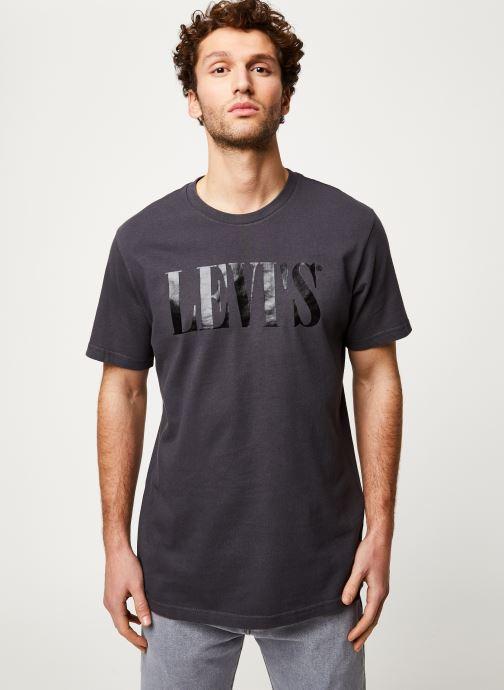 Vêtements Levi's RELAXED GRAPHIC TEE Noir vue droite