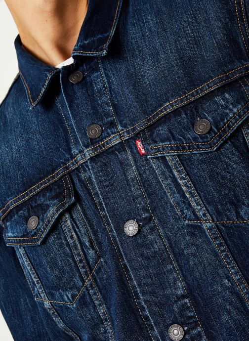 Vêtements Levi's THE TRUCKER JACKET Bleu vue face