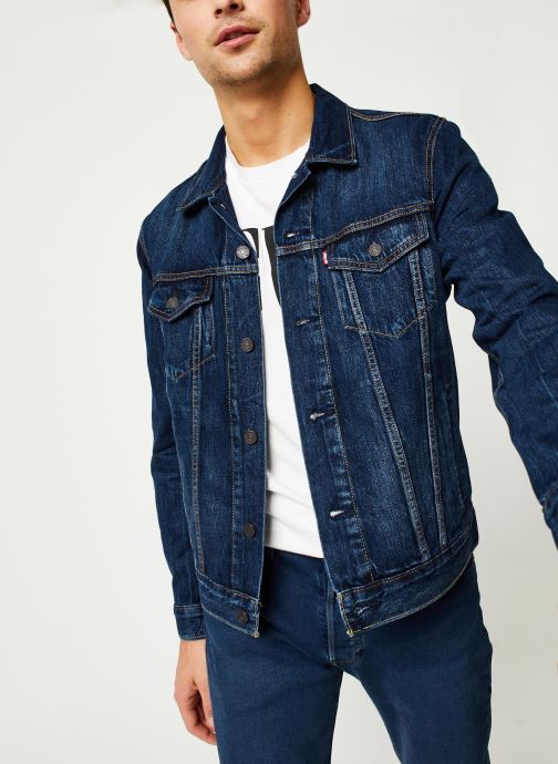 Vêtements Levi's THE TRUCKER JACKET Bleu vue détail/paire