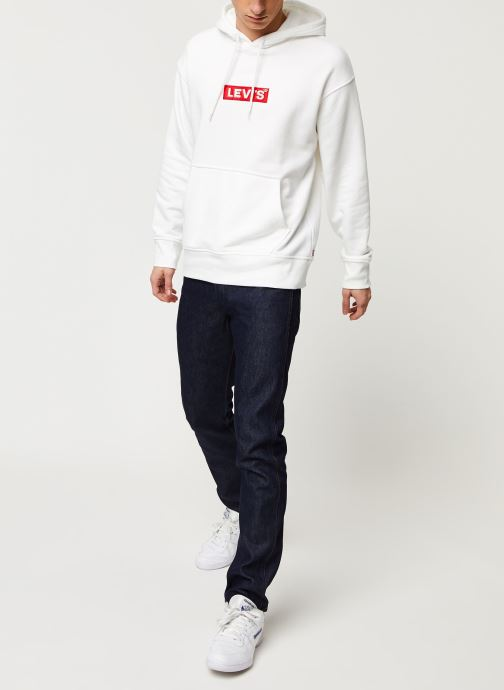 Vêtements Levi's RELAXED GRAPHIC HOODIE Blanc vue bas / vue portée sac