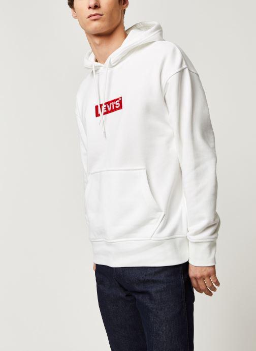 Vêtements Levi's RELAXED GRAPHIC HOODIE Blanc vue droite