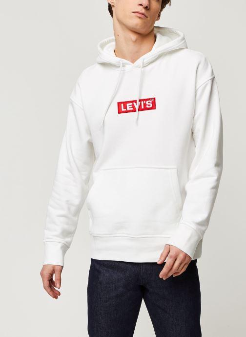 Vêtements Levi's RELAXED GRAPHIC HOODIE Blanc vue détail/paire