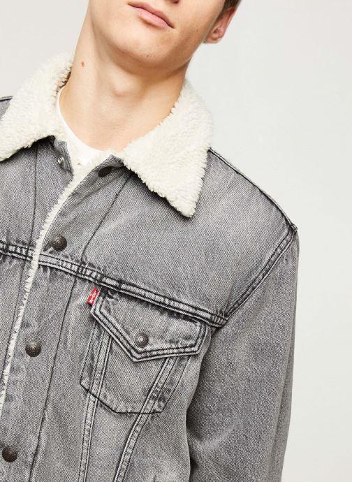 Vêtements Levi's VTG FIT SHERPA TRUCKER Gris vue face