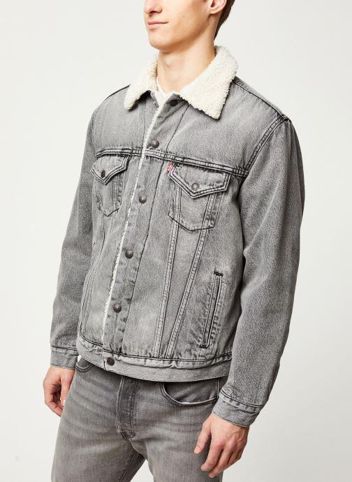 Vêtements Levi's VTG FIT SHERPA TRUCKER Gris vue droite