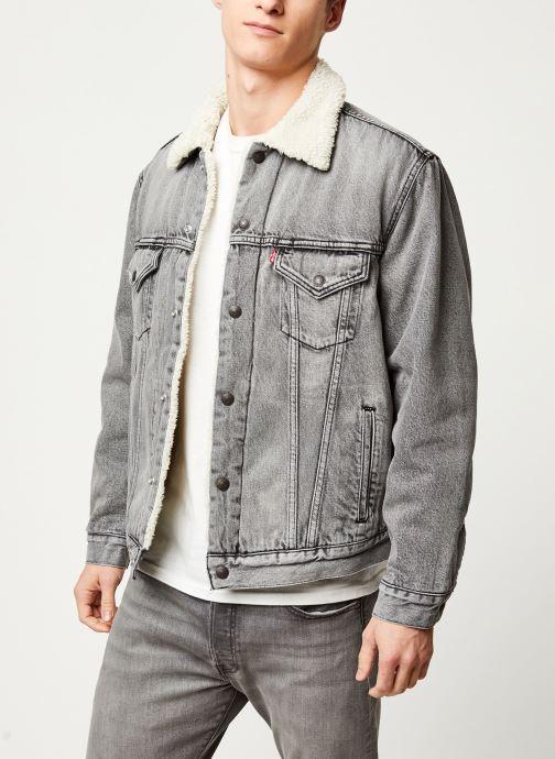 Vêtements Levi's VTG FIT SHERPA TRUCKER Gris vue détail/paire