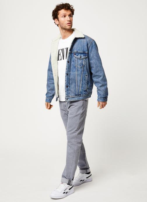 Vêtements Levi's VTG FIT SHERPA TRUCKER Bleu vue bas / vue portée sac