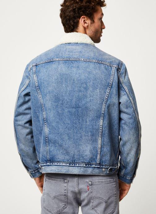 Vêtements Levi's VTG FIT SHERPA TRUCKER Bleu vue face