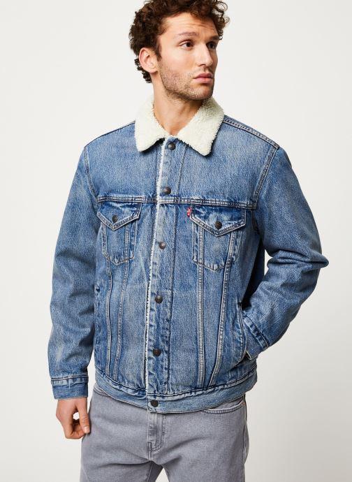 Vêtements Levi's VTG FIT SHERPA TRUCKER Bleu vue droite