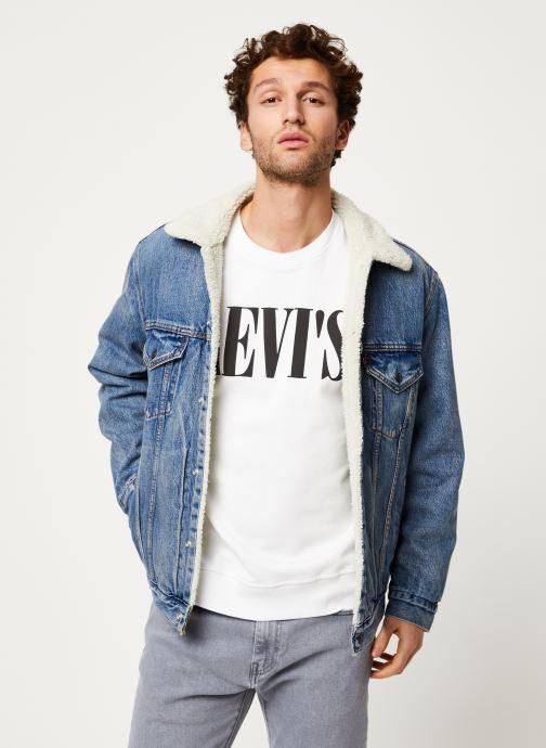 Vêtements Levi's VTG FIT SHERPA TRUCKER Bleu vue détail/paire