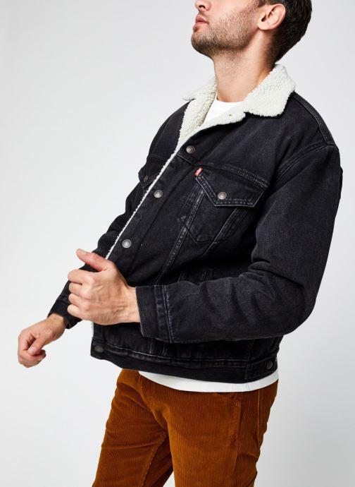 Vêtements Levi's VTG FIT SHERPA TRUCKER Noir vue détail/paire