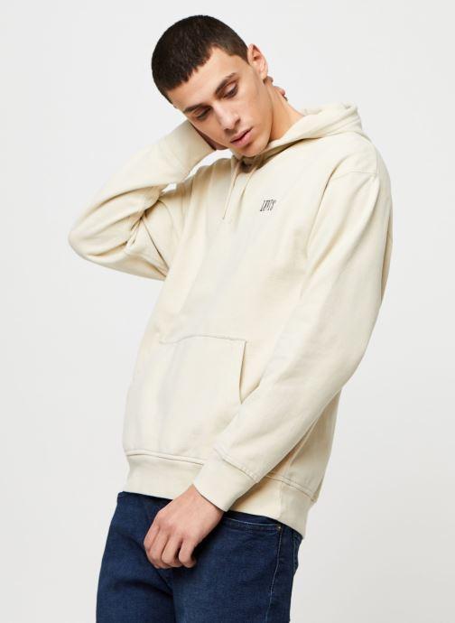 Vêtements Levi's AUTHENTIC PO HOODIE Blanc vue droite