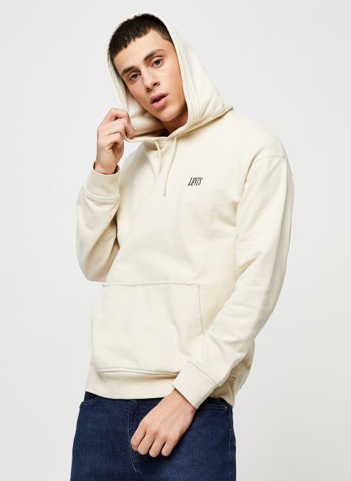 Vêtements Levi's AUTHENTIC PO HOODIE Blanc vue détail/paire