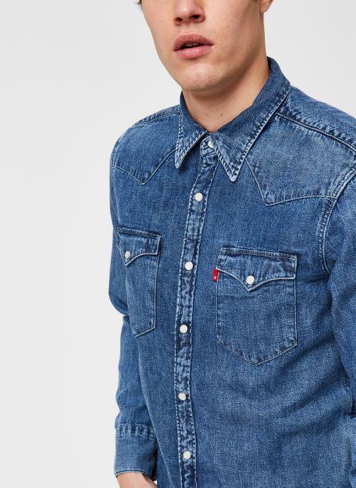 Vêtements Levi's BARSTOW WESTERN STANDARD Bleu vue face