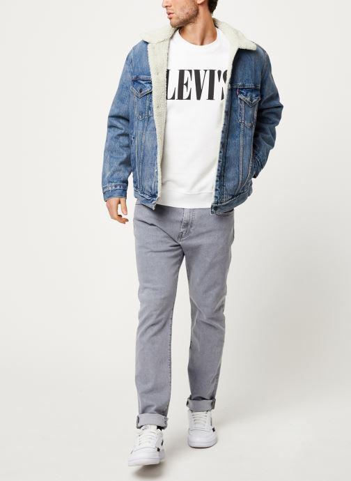 Vêtements Levi's RELAXED GRAPHIC CREWNECK Blanc vue bas / vue portée sac