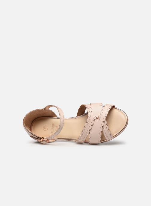 Sandales et nu-pieds Carrement Beau Y19058 Beige vue gauche