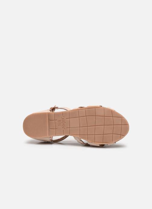 Sandales et nu-pieds Carrement Beau Y19058 Beige vue haut