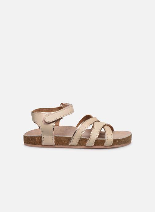 Sandales et nu-pieds CARREMENT BEAU Y09005 Beige vue derrière