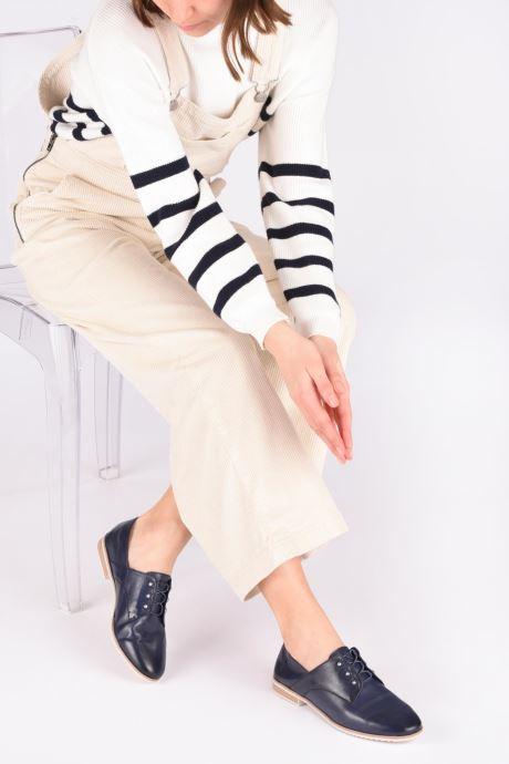 Chaussures à lacets Tamaris LAMIA Bleu vue bas / vue portée sac