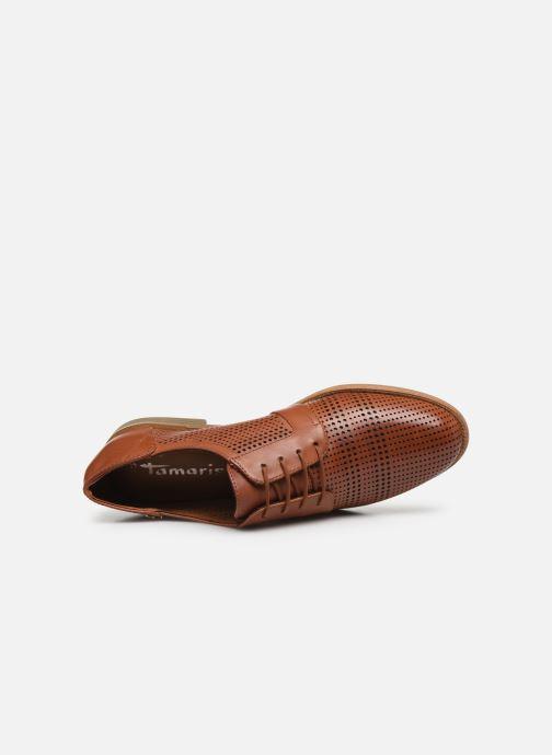 Zapatos con cordones Tamaris WILNA Marrón vista lateral izquierda