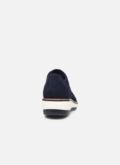 Zapatos con cordones Tamaris XAVIA Azul vista lateral derecha