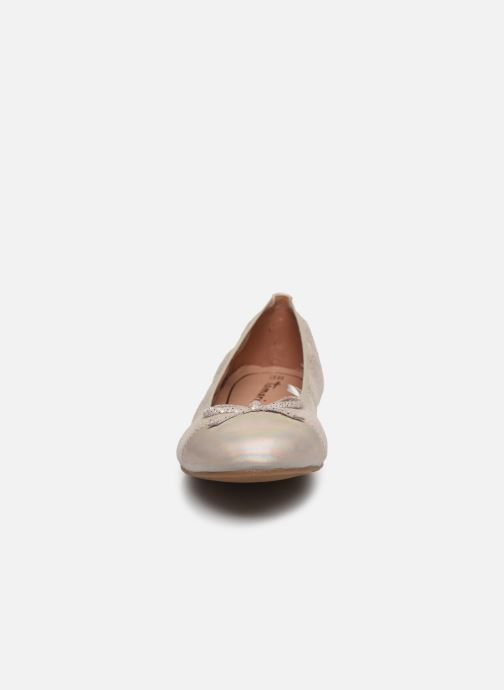 Ballerines Tamaris BURT Or et bronze vue portées chaussures