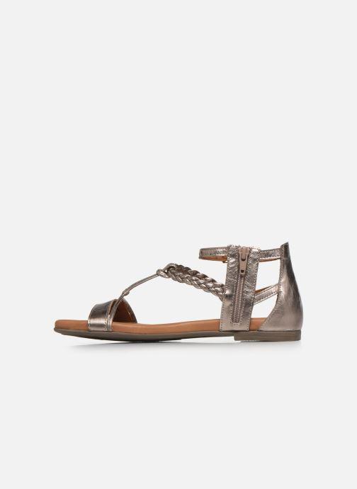 Sandales et nu-pieds Tamaris NAOO Or et bronze vue face